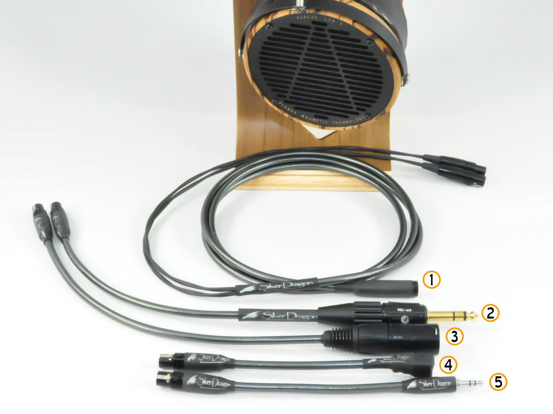 Audeze LCD-3 with Silver Dragon V3 Headphone Cable Adapter System