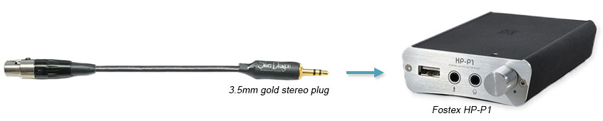 3.5mm plug for Fostex HP-P1