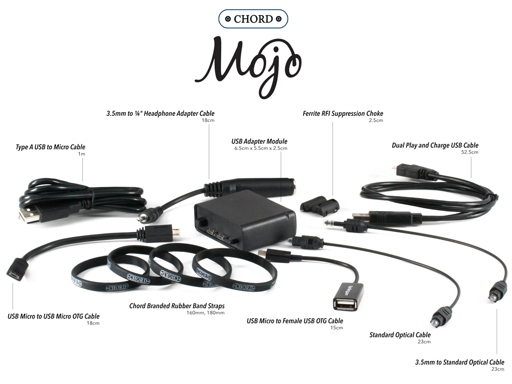 Chord Mojo USB Adapter Pack Specs