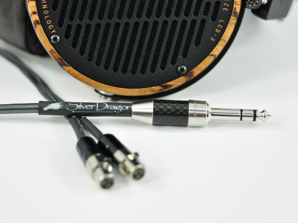 Silver Dragon V3 Premium Headphone Cable for Audeze