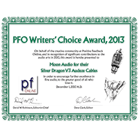 Positive Feedback 2013 Writers Choice Awards
