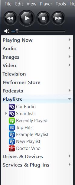 Jriver Playlist View