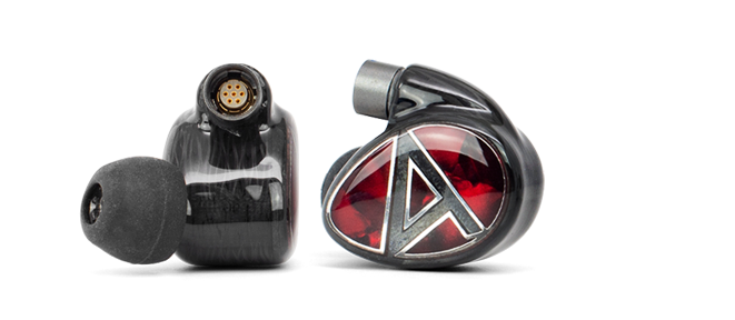 Pearloid face of the Layla AION IEMs