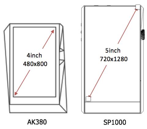 A&ultima SP1000 Screen Size