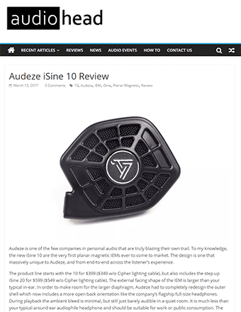 Audio Head Review
