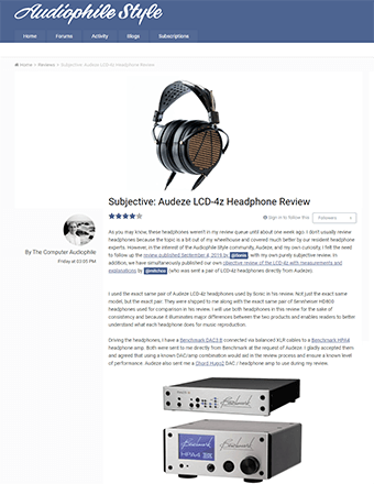 Audiophile Style Subjective Review