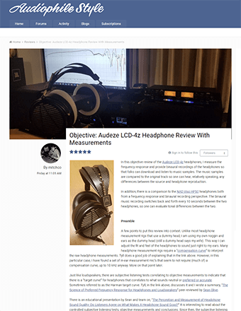 Audiophile Style Objective Review