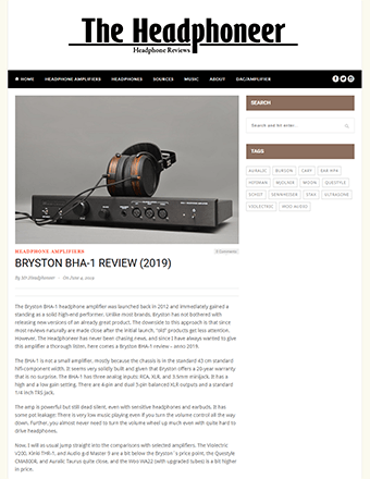 Bryston BHA-1 Headphoneer Review