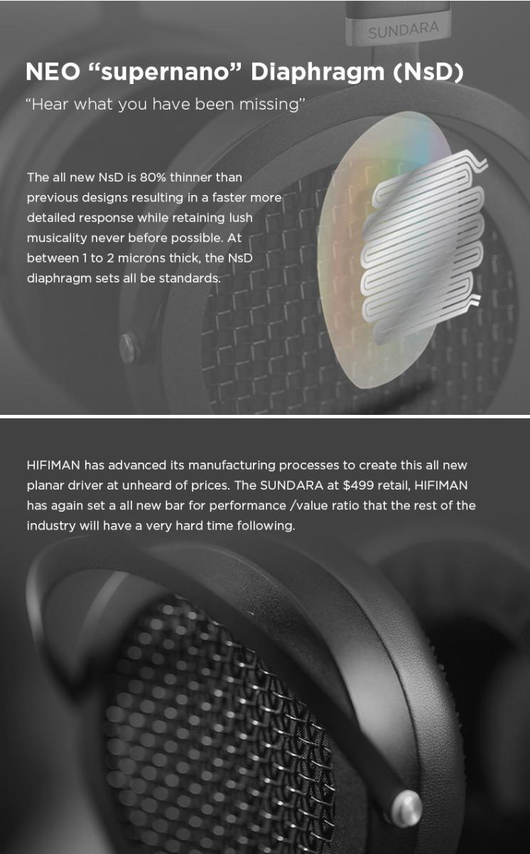 Hifiman Sundara diaphragm and driver features