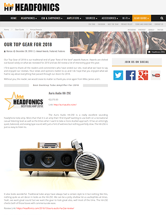 Headphonics Best Gear of 2018