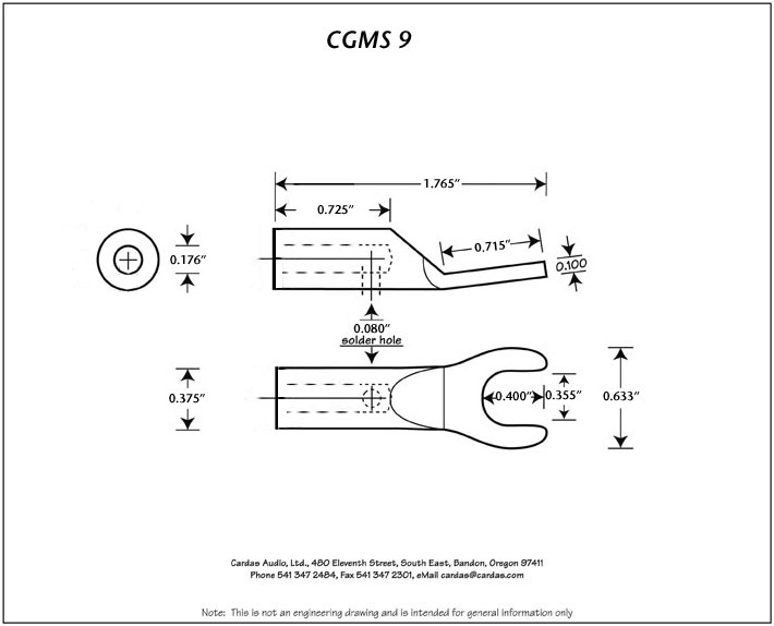 Cardas CGMS 9r M dimensions