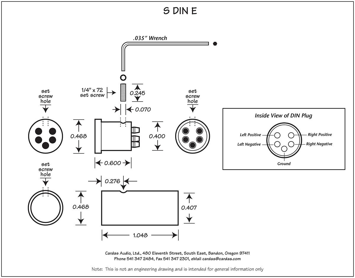 Cardas S DIN E plug diagram