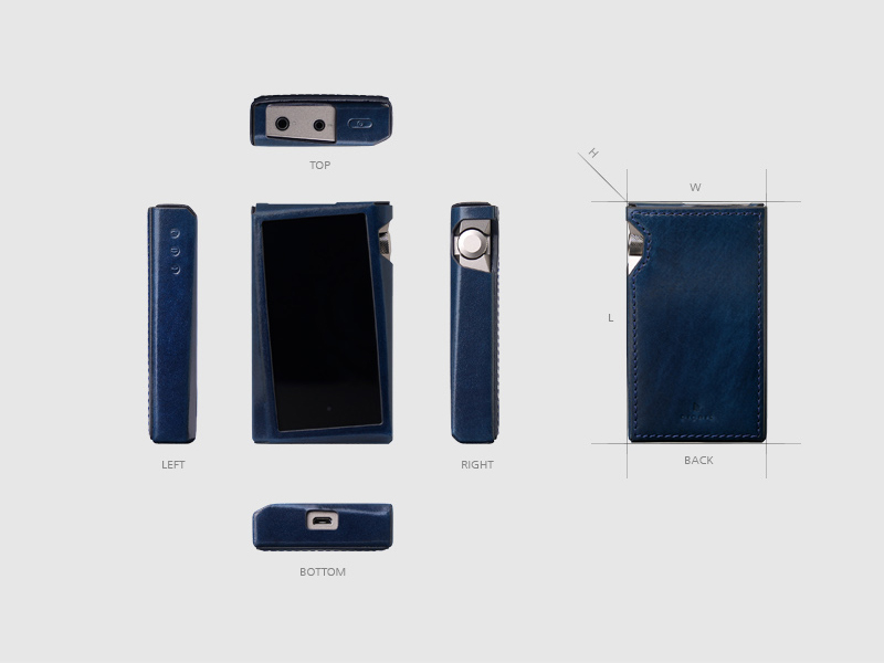 Deconstructed view of every side of the coque case