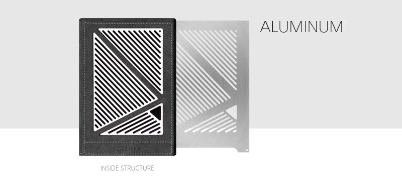 Aluminum panel design in Dignis case for Hugo 2