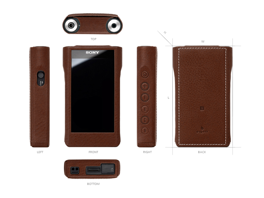Deconstructed view of every side of the Dignis Midas case