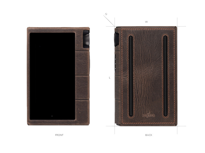 front and back view of Dignis Tiger case for Kann Cube