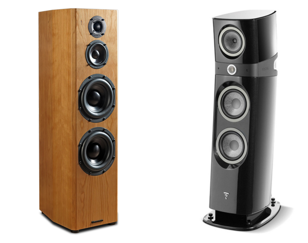 Gaia I compatible speaker models, including Bryston Middle T and Focal Sopra