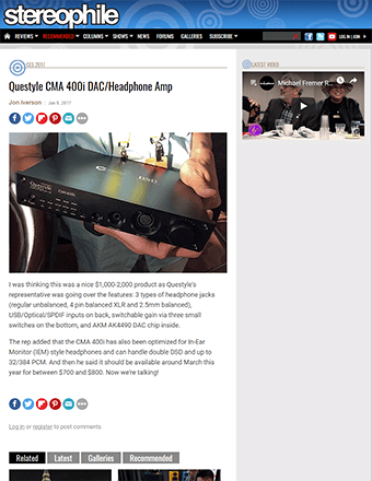 Stereophile Review