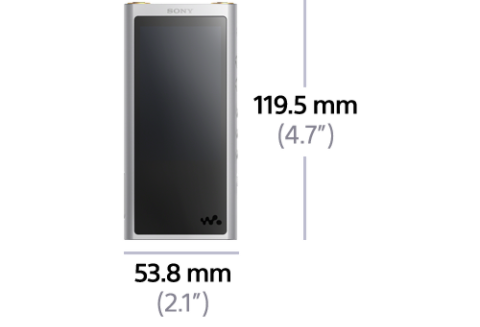 NW-ZX300 front dimensions