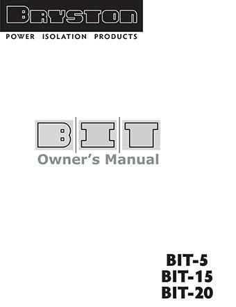 Bryston BIT Brochure
