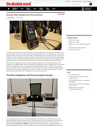 The Absolute Sound LAAS Review