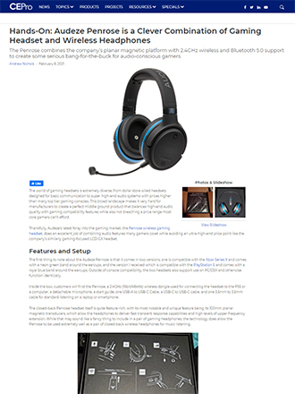 CEPro Gaming Headphone Review