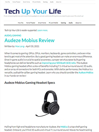 Tech Up Your Life Audeze Mobius Review