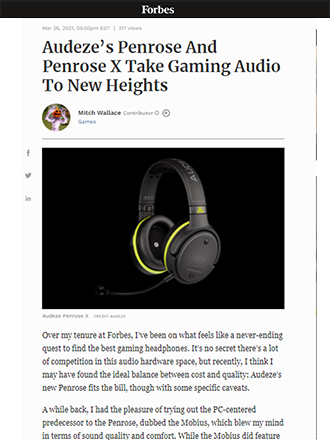 Forbes Audeze Penrose Gaming Headphone Review