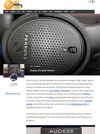 Just Push Start Audeze Penrose Gaming Headphone Review