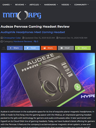 Audeze Penrose X Gaming Headphone Review