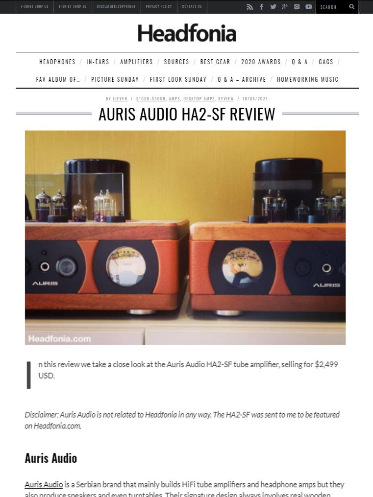Auris Audio HA2-SF Review