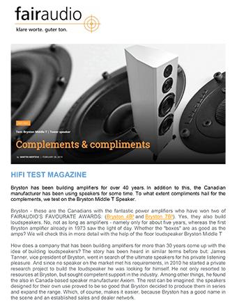 HiFi Test Magazine Review