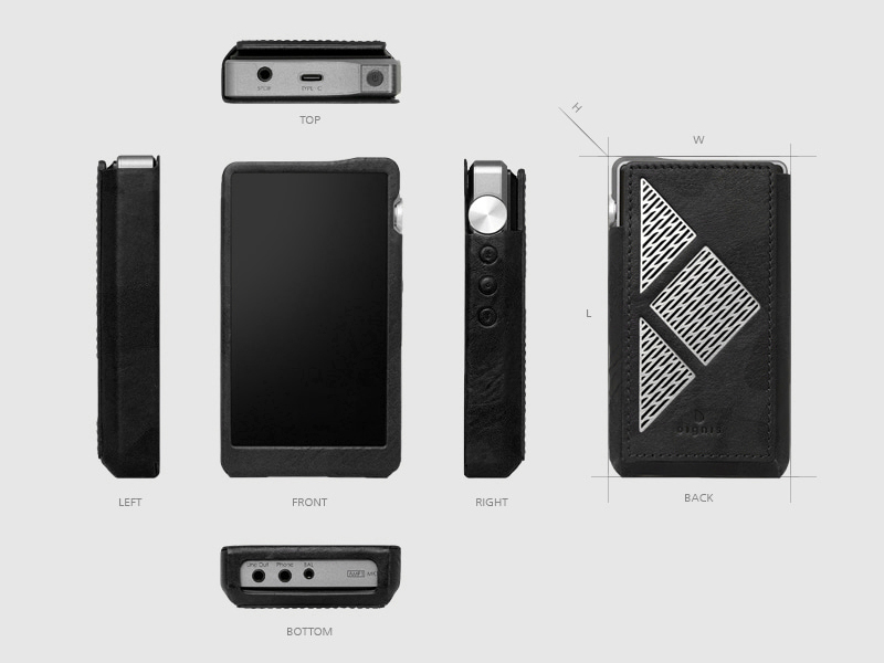 exploded view of Felix case for DX220
