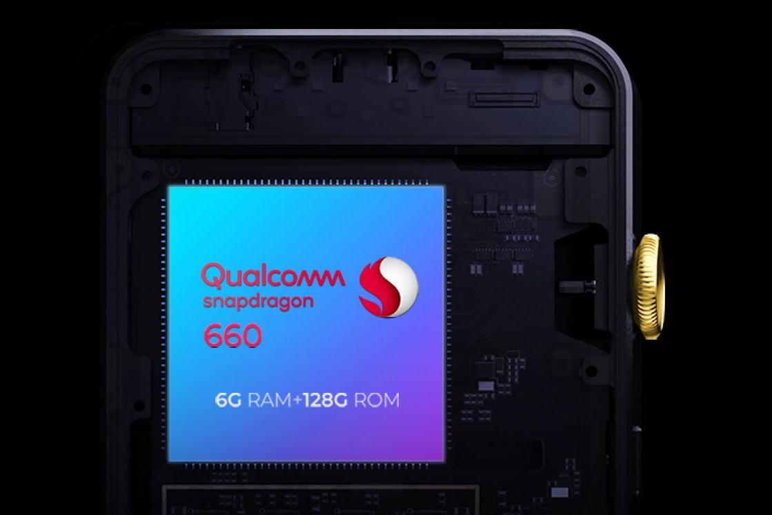 Qualcomm Snapdragon 660 chip with 6GB RAM and 128GB ROM