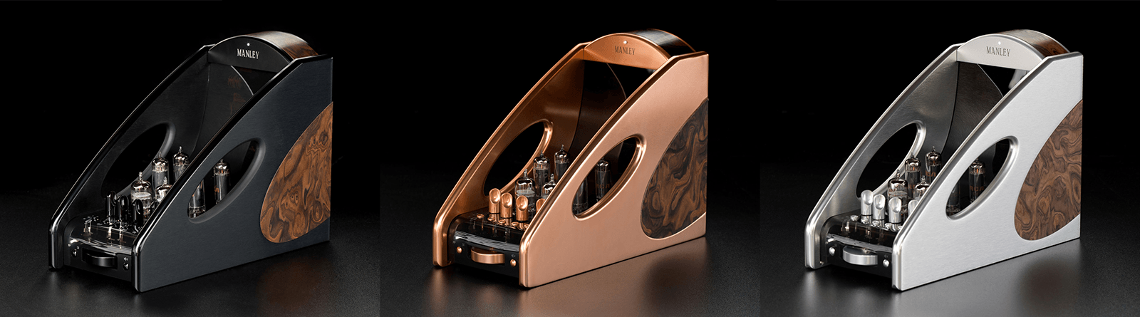 Manley Labs Absolute amp in black, copper, and silver