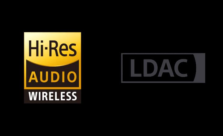 Hi-Res Audio wireless and LDAC logos