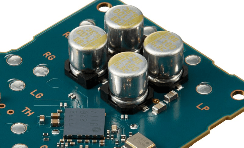 NW-ZX500 capacitors on a circuit board