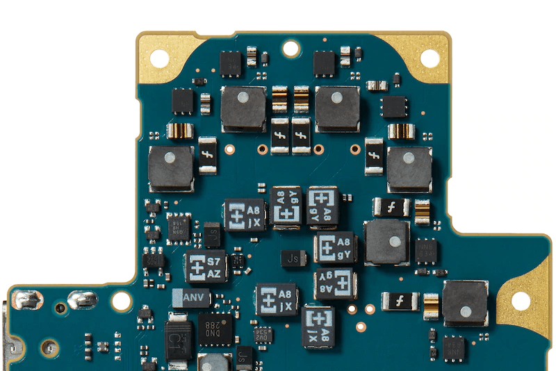 circuit board with film capacitors