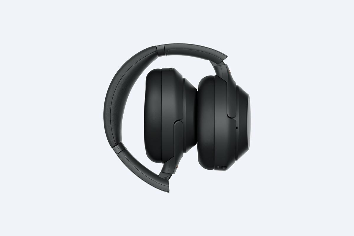 Sony WH-1000XM3 headphones folded up