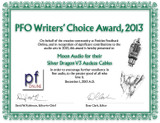 2013 PFO Writers' Choice Award - Silver Dragon V3 Premium Audeze