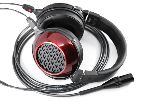 Silver Dragon Headphone Cable with Fostex TH-909 Headphones