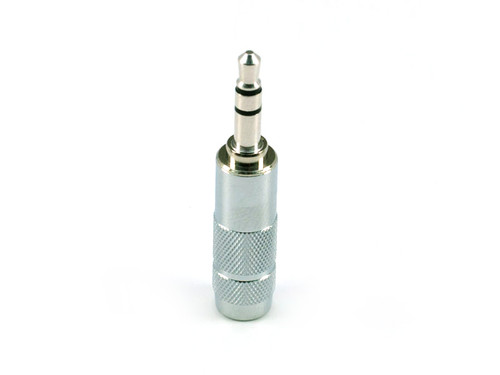 Oyaide  3.5mm Straight Rhodium Plated mini Plug P-3.5 SR