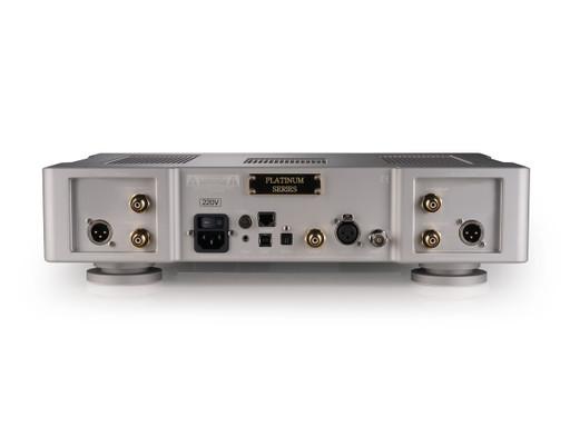 Back panel of Bricasti M21 DAC in Platinum