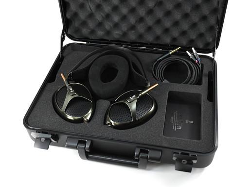 Meze Empyrean headphones in travel case