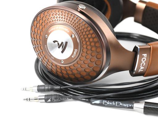 Black Dragon Premium Cable for Focal Stellia headphones