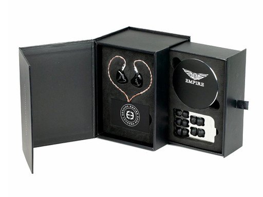 Empire Ears packaging for universal IEMs (may vary slightly)