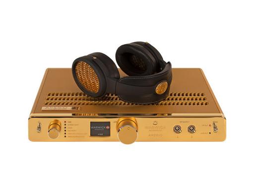 Warwick APERIO headphone system in 24 Karat Gold