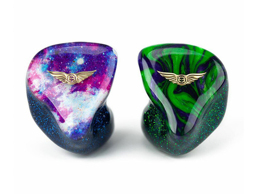 Empire Ears Vantage custom IEMs in Galaxy and Hulk Swirl faceplates