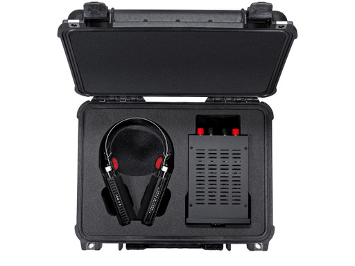 RAAL SR1a True Ribbon headphone with interface in case