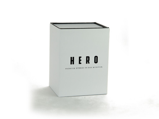 Empire Ears HERO packaging for universal IEMs